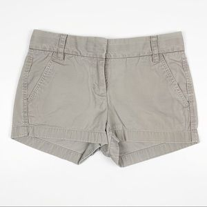 J. Crew Light Gray Chino Shorts 00